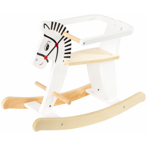 Dodo Toys Houten Hobbelpaard hout - Wit - 1 jaar + - Hobbel Paard / Dier