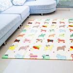 Mamabrum Speel Kleed Paarden & Letters – Dubbelzijdige XXL – Foamen speelkleed / mat – Opvouwbaar 1 CM