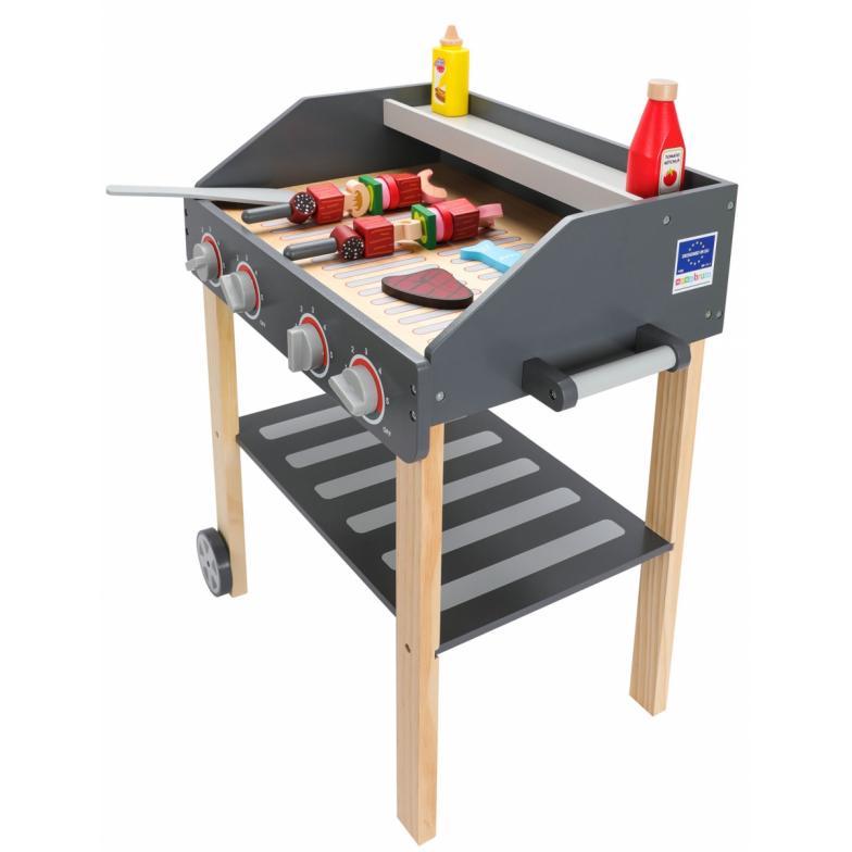 Mamabrum Houten Grill - BBQ Master -  Speelgoed BBQ
