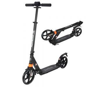 HyperMotion DRAGSTER - Step Volwassenen Opvouwbaar - Vering - Zwart - 100kg - Autoped Grote Wielen