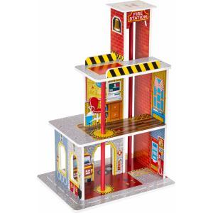Dodo Toys - Houten Brandweerkazerne Hout - Groot - Brandweer Speelgoed - Garage