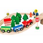 Dodo Toys – Houten Treinset – Treinbaan hout – Trein set – XXL – 70 stuks – Treinen Speelgoed