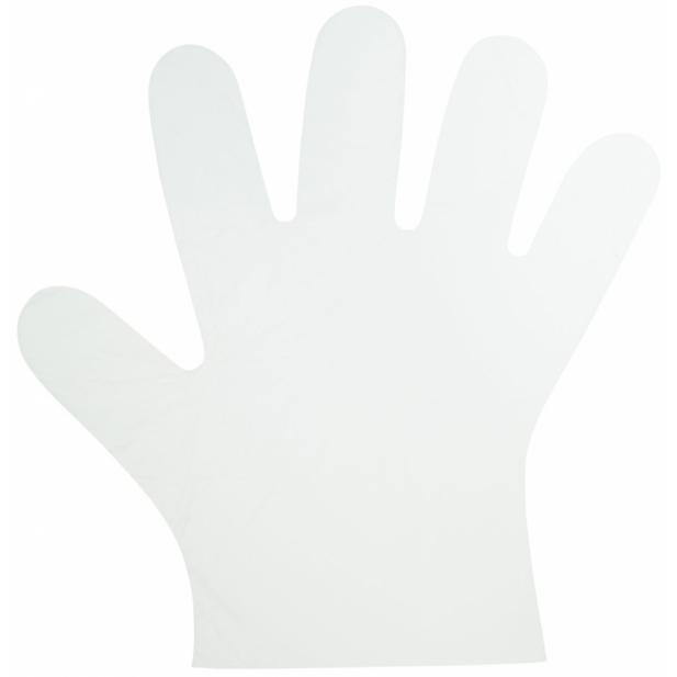 KKS Handschoenen Wegwerp HDPE 10μm dik - 10000 stuks - niet Medisch
