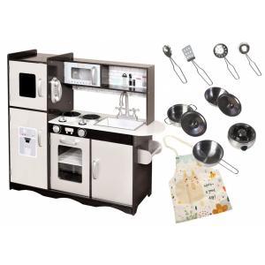 Mamabrum Houten SpeelKeuken - LED  Keuken - Accessoires voor Kleine Koks