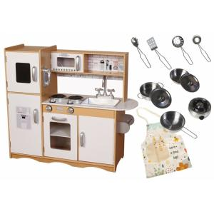 Mamabrum Houten Keuken Groot LED - Speelkeuken - Met Keuken Accessoires