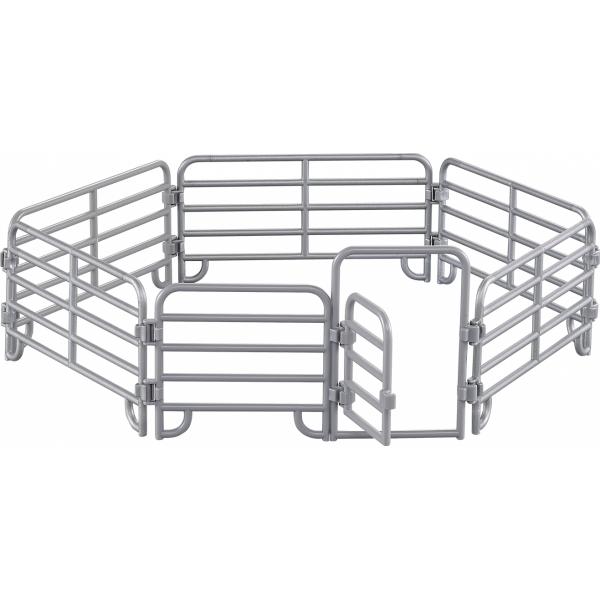 Farmee Paard met hek en boer met maaier - Boerderijspeelgoed