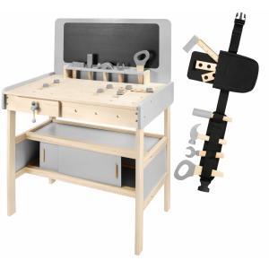 Mamabrum Speelgoed werkbank met gereedschap en Krijtbord