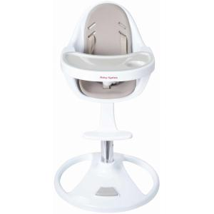 Moby System - Kinderstoel - FLORA - Hoge draaibare kinderstoel - Beige / Wit - Verstelbare hoogte
