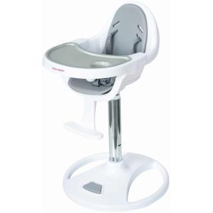 Moby System - Kinderstoel - FLORA - Hoge draaibare kinderstoel - Grijs / Wit - Verstelbare hoogte