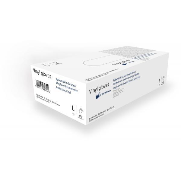 HeroTouch beschermende vinyl wegwerphandschoenen - Poedervrij - 100 stuks - maat L