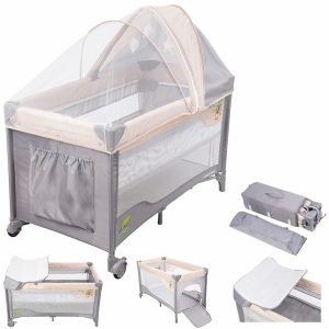 Moby System Campingbedje / Box - 0-36 maanden - Klamboe - Reisbedje baby
