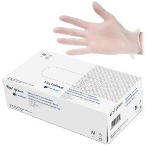 HeroTouch beschermende vinyl wegwerphandschoenen - Poedervrij - 100 stuks - maat M