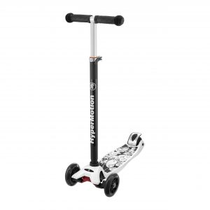 HyperMotion Kinderstep 3 wielen - LED Wielen Kids Scooter / Step - Wit
