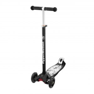 HyperMotion Kinderstep 3 wielen - LED Wielen Kids Scooter / Step - Zwart