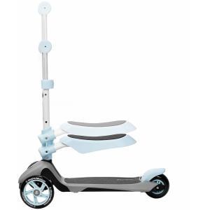 HyperMotion Kinder step jongen en meisje 3 wielen Blauw 3 in 1 met afneembaar zadeltje