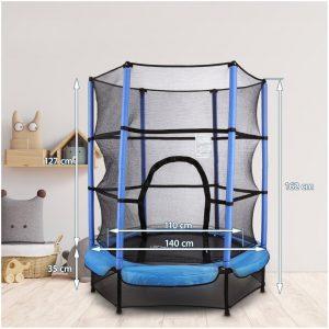 HyperMotion - Trampoline - Met veiligheidsnet en rand - Trampolines voor kinderen van 3 tot 6 jaar - 140 cm