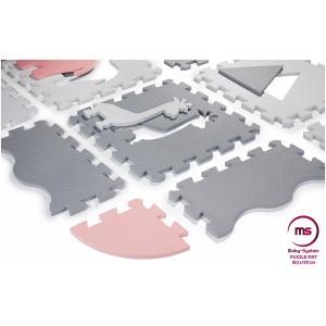 Moby System Puzzelmat XL 150 x 150 x 1 cm - met rand - EVA foam - roze