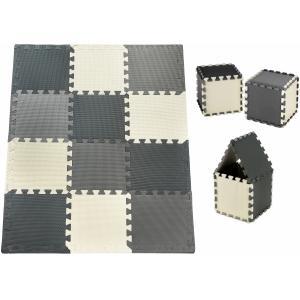 Moby System Schuimpuzzel 12 stuks - educatieve schuimmat 120 x 90 x 1