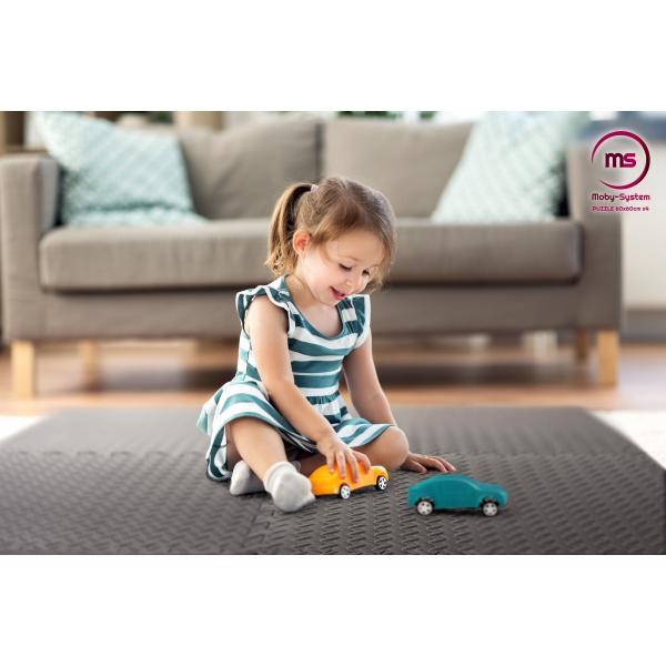 Moby System Foam grote puzzel 4st. - antislip schuimmat voor oefeningen op de vloer 120 x 120 x 1