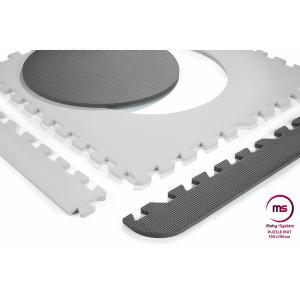 Moby System Puzzelmat XXL 190 x 190 x 1 cm - met rand - EVA-schuim - grijs