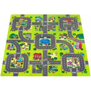 Moby System Educatieve mat foam puzzel 90 x 90 x 1cm - EVA foam - patroon: stad