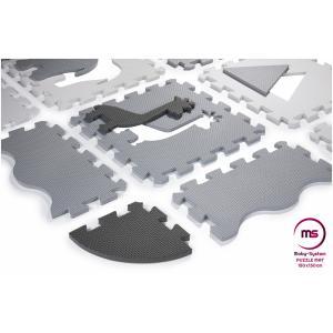 Moby System Puzzelmat XL 150 x 150 x 1 cm - met rand - EVA foam - grijs