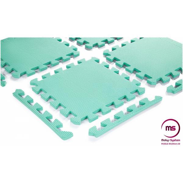 Moby System Schuimpuzzel 12 stuks. - educatieve foam mat 120 x 90 x 1